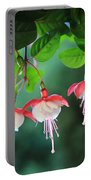 White Fuchsia Portable Battery Charger