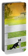 White Gate Cat Portable Battery Charger