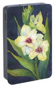 White Glads Portable Battery Charger
