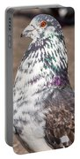 White-gray Pigeon Profile Portable Battery Charger