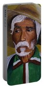 White Haired Man - 2d Portable Battery Charger