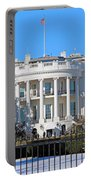 White House South Lawn With Snow Portable Battery Charger
