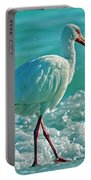 White Ibis Paradise Portable Battery Charger