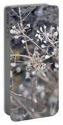 White Irish Flower Portable Battery Charger