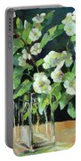 White Jasmine In A Ikea Bowl Portable Battery Charger