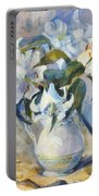 White Lilies In White Jug Portable Battery Charger