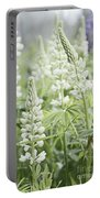 White Lupines Portable Battery Charger