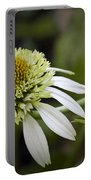 White Milkshake Coneflower Portable Battery Charger