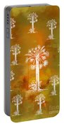 White Palms Gold Portable Battery Charger