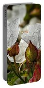 White Paper Petals Portable Battery Charger