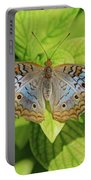 White Peacock Butterfly I Portable Battery Charger
