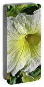 White Petunia - Solanaceae Portable Battery Charger