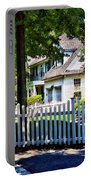 White Picket Fence Portable Battery Charger
