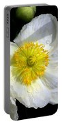 White Poppy Trio Photograph Portable Battery Charger