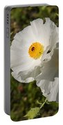 White Poppy Twins Portable Battery Charger