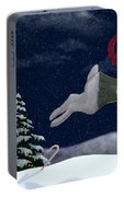 White Rabbit Christmas Portable Battery Charger