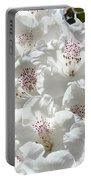 White Rhododendrons Flowers Art Prints Baslee Troutman Portable Battery Charger