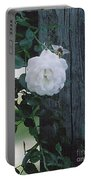 White Rose Portable Battery Charger
