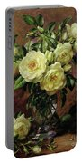 White Roses - A Gift From The Heart Portable Battery Charger