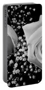 White Roses Bw Fine Art Photography Print Portable Battery Charger