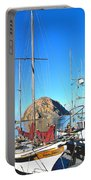 White Sail Boat Morro Rock  Portable Battery Charger