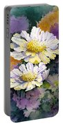 White Scabious Portable Battery Charger