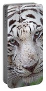 White Siberian Tiger Portable Battery Charger