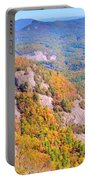 White Side Mountain Fool's Rock In Autumn Portable Battery Charger