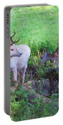 White Stag And Hind Portable Battery Charger