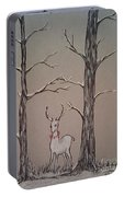 White Stag Portable Battery Charger by Ginny Youngblood