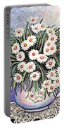 White Straw Flowers Two Portable Battery Charger