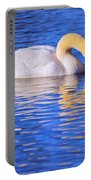 White Swan Drinking Water In A Pond Portable Battery Charger