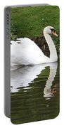 White Swan In Belgium Park Portable Battery Charger