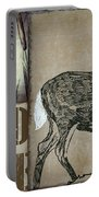White Tail Deer Wild Game Rustic Cabin Portable Battery Charger