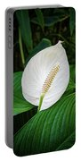 White Tail-flower Portable Battery Charger
