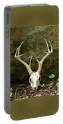 White-tailed Deer Skull In The Woods Portable Battery Charger