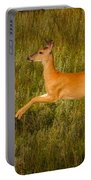 White-tailed Doe Leaping Portable Battery Charger