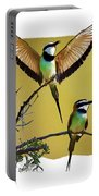 White Throated Bee Eater Pf Portable Battery Charger