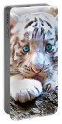 White Tiger Cub Portable Battery Charger
