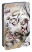 White Tiger Dreams Portable Battery Charger