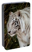 White Tiger Portrait 2 Portable Battery Charger