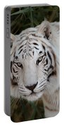 White Tiger Portrait Portable Battery Charger