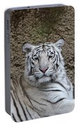 White Tiger Resting Portable Battery Charger