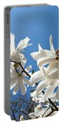 White Tree Flowers Art Prints Magnolia Blue Sky Floral Baslee Troutman Portable Battery Charger