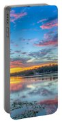 White Trout Lake Sunset - Tampa, Florida  Portable Battery Charger