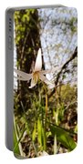 White Trout Lily Portable Battery Charger