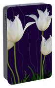 White Tulips For A New Age Portable Battery Charger
