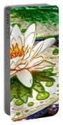White Water Lilies Flower Portable Battery Charger