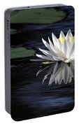 White Water Lily Portable Battery Charger