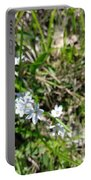 White Wild Flower Portable Battery Charger
